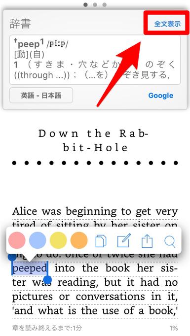 Kindleアプリ辞書1